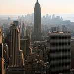 View south from the Rockafeller Center, with Empire State Building