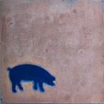 Schwein sein_2, Monotypie, 2011