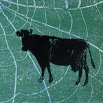 les vaches_4, Monotypie 2015, 14x12