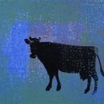 les vaches_3, Monotypie 2015, 14x12