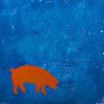 Schwein sein_3, Monotypie, 2011