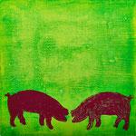 Schwein sein_4, Monotypie, 2011