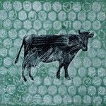 les vaches_1, Monotypie 2015, 14x12