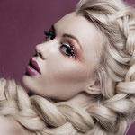 Причёска с КОСОЙ-имитацией - причёска с постижем, пепельный блонд