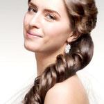 Причёска с ЛОКОНОМ - имитацией - причёска с постижем, пепельно-русый