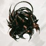 Украшение - ПУЧОК - постиж (из натуральных волос), тёмно-коричневый