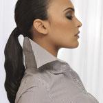 Причёска с ХВОСТОМ на ленте - причёска с постижем, чёрный