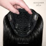 ПОЛУПАРИК - каскад (под ободок, на ободке), натуральный парик, чёрный