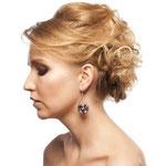 Причёска с РЕЗИНКОЙ объёмной, причёска с шиньоном-резинкой, причёска с постижем, мелирование, волнистые волосы