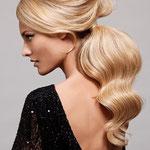 Причёска с ХВОСТОМ на заколке - причёска с постижем, золотистый блонд
