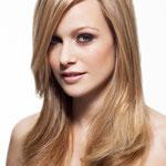 Причёска с ШИНЬОНОМ-лентой на заколках - причёска с постижем, светло-русый золотистый