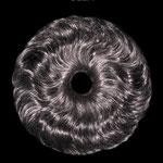 РЕЗИНКА объёмная, шиньон-резинка - постиж, чёрные волнистые волосы