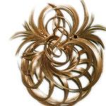 Украшение - ПУЧОК - постиж (из натуральных волос), золотистый блонд