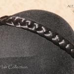 Классическая КОСА на резинке, накладная коса - постиж, чёрный, из натуральных волос
