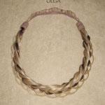 Ажурная КОСА на резинке, накладная коса - постиж, из натуральных волос