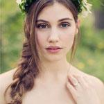 Причёска с КОСОЙ - имитацией на заколке - причёска с постижем, русый