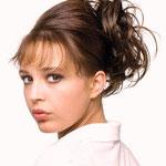 Причёска с РЕЗИНКОЙ объёмной, причёска с шиньоном-резинкой, причёска с постижем, русые прямые волосы