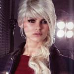 Причёска с ШИНЬОНОМ на заколках - причёска с постижем, светлый блонд