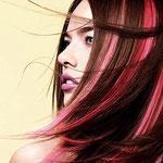 Причёска с ПРЯДКАМИ color - причёска с постижем, красные оттенки