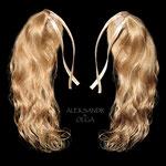ХВОСТИКИ light на заколках - постиж, светло-русый золотистый (мягкие славянские волосы)