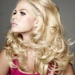 Причёска с ПОЛУ-ПАРИКОМ combo (с имитацией кожи головы) - причёска с постижем, золотистый блонд