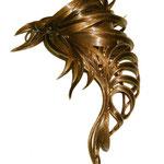 Украшение - ВАЛИК - РАКУШКА - постиж, светло-русый золотистый (ИЗ натуральных ВОЛОС)