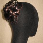 ПУЧОК для Волос - постиж, с элементами плетения, шоколадные оттенки