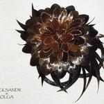 украшение из волос, заколка - постиж, коричневый цветок