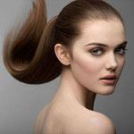Причёска с ХВОСТОМ на резинке - причёска с постижем, русый