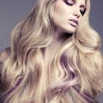 Причёска с ПРЯДКАМИ color на заколках - причёска с постижем, фиолетовые оттенки