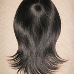 Теменная НАКЛАДКА combo mini - на заколках - постиж, тёмно-русый, прямые волосы