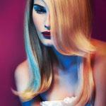 Причёска с ШИНЬОНОМ-лентой на заколках - причёска с постижем, мелирование