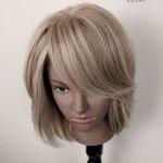 ПОЛУПАРИК, моно-парик, каскад, натуральный парик, с эффектом мелирования