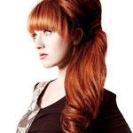 Причёска с НАКЛАДКОЙ - M - причёска с постижем, рыжий