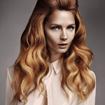 Причёска с НАКЛАДКОЙ - XL - причёска с постижем, медно-золотистая