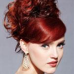 Причёска с БАБЕТТОЙ mini - причёска с постижем, красно-медный