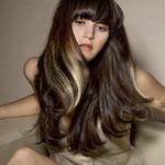 Причёска с ПРЯДКАМИ color на заколках - причёска с постижем, оттенки золотистый блонд