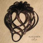 ВАЛИК - РАКУШКА - постиж, шоколад (из натуральных волос)