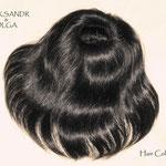РЕЗИНКА объёмная, шиньон-резинка - постиж, чёрные прямые волосы