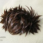 ЗАКОЛКА - постиж, светло-каштановая (из натуральных волос)