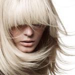 Причёска с НАКЛАДКОЙ combo - причёска с постижем, пепельный блонд прямые волосы