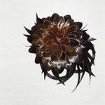 Украшение - ЦВЕТОК из Волос - постиж, коричневый цветок