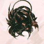 Украшение - ПУЧОК- постиж (из натуральных волос), тёмно-коричневый