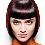 Причёска с ЧЁЛКОЙ на заколках - причёска с постижем, коричнево-красный