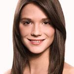 Причёска с Теменной Накладкой на Пробор, тёмно-русые прямые волосы