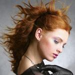 Причёска с ХВОСТОМ на крабе - причёска с постижем, золотисто-медный
