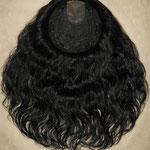 Теменная НАКЛАДКА combo на заколках - постиж, чёрные волнистые волосы