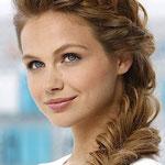 Причёска с КОСОЙ - имитацией на заколке - причёска с постижем, светло-русый