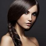 Причёска с КОСОЙ - имитацией - причёска с постижем, тёмно-русый