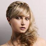 Причёска с КОСОЙ на ободке - причёска с постижем, мелирование, светло-русые оттенки